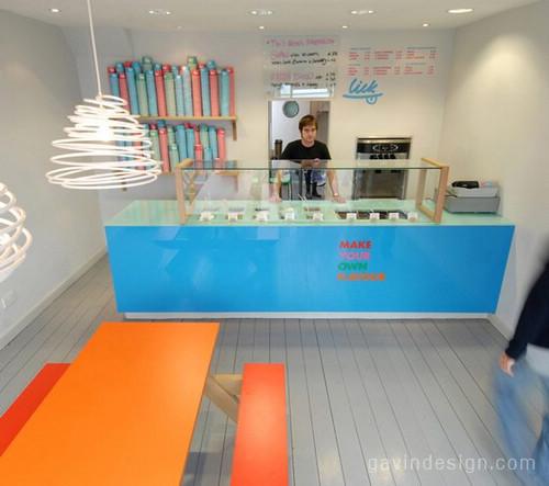 冰淇凌店设计, 冰淇淋店设计, 店面设计, 精品店设计,零售店设计,商业空间设计