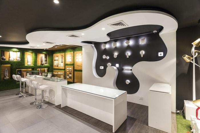 灯饰店展示柜设计