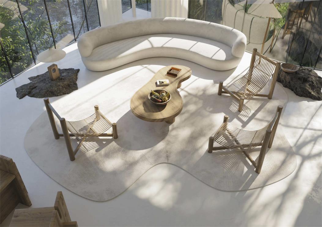 别墅客厅设计俯瞰图