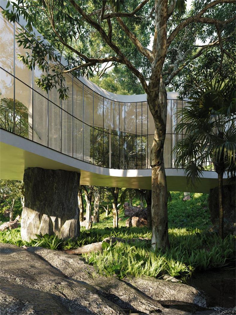 别墅户外中庭景观设计