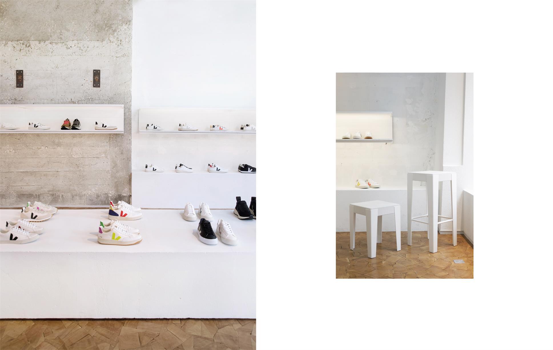 鞋店展示柜和家具设计