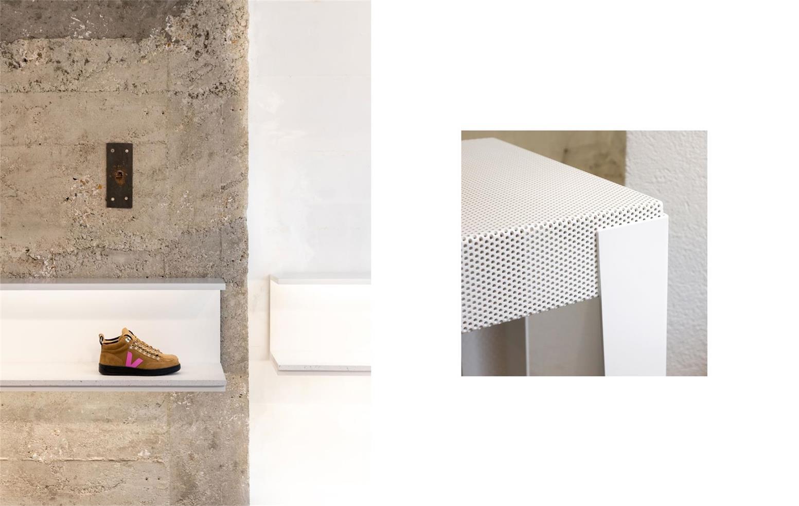 鞋店层板设计细节