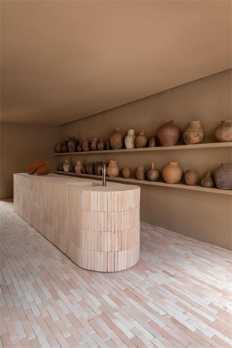 瑜伽馆水吧台设计