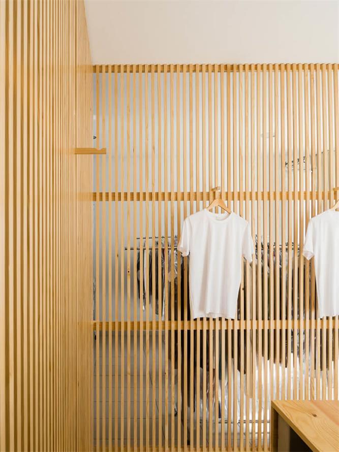 洗衣店格栅设计细节
