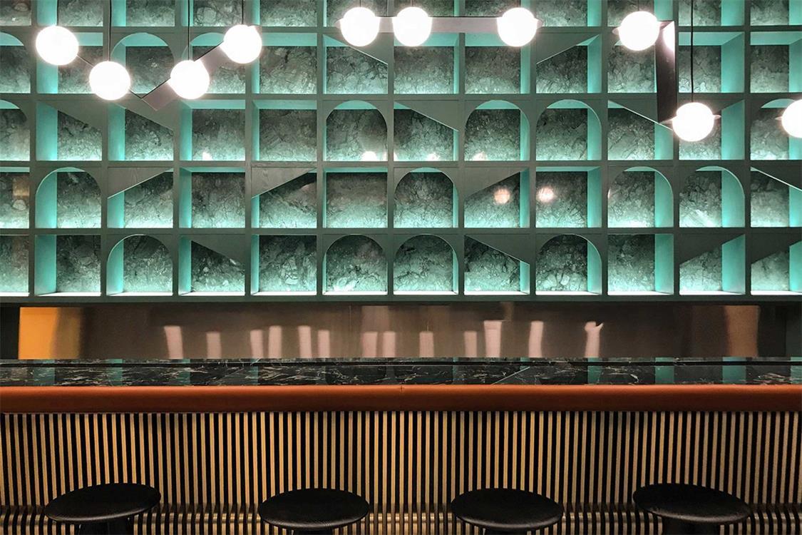 酒吧吧台设计特写