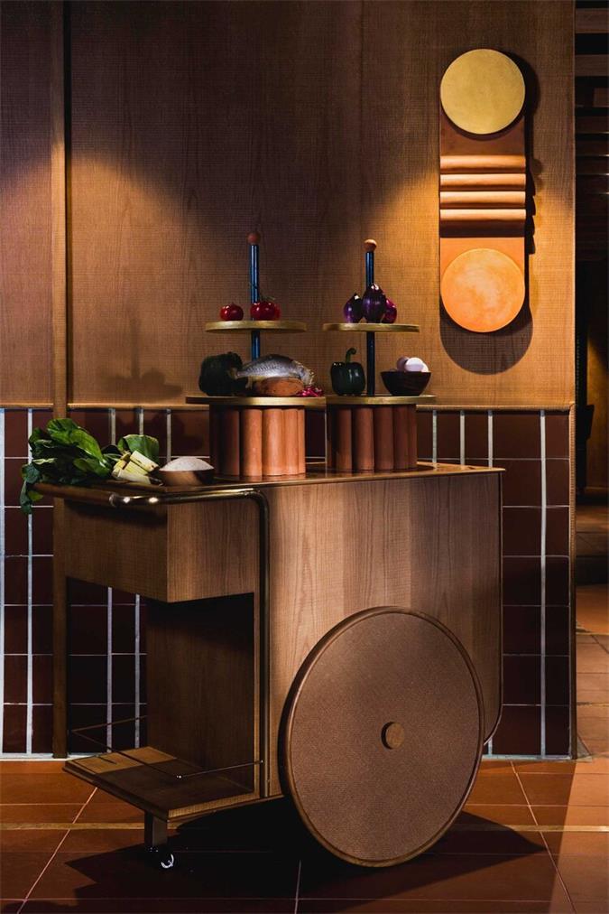茶餐厅复古手推车设计