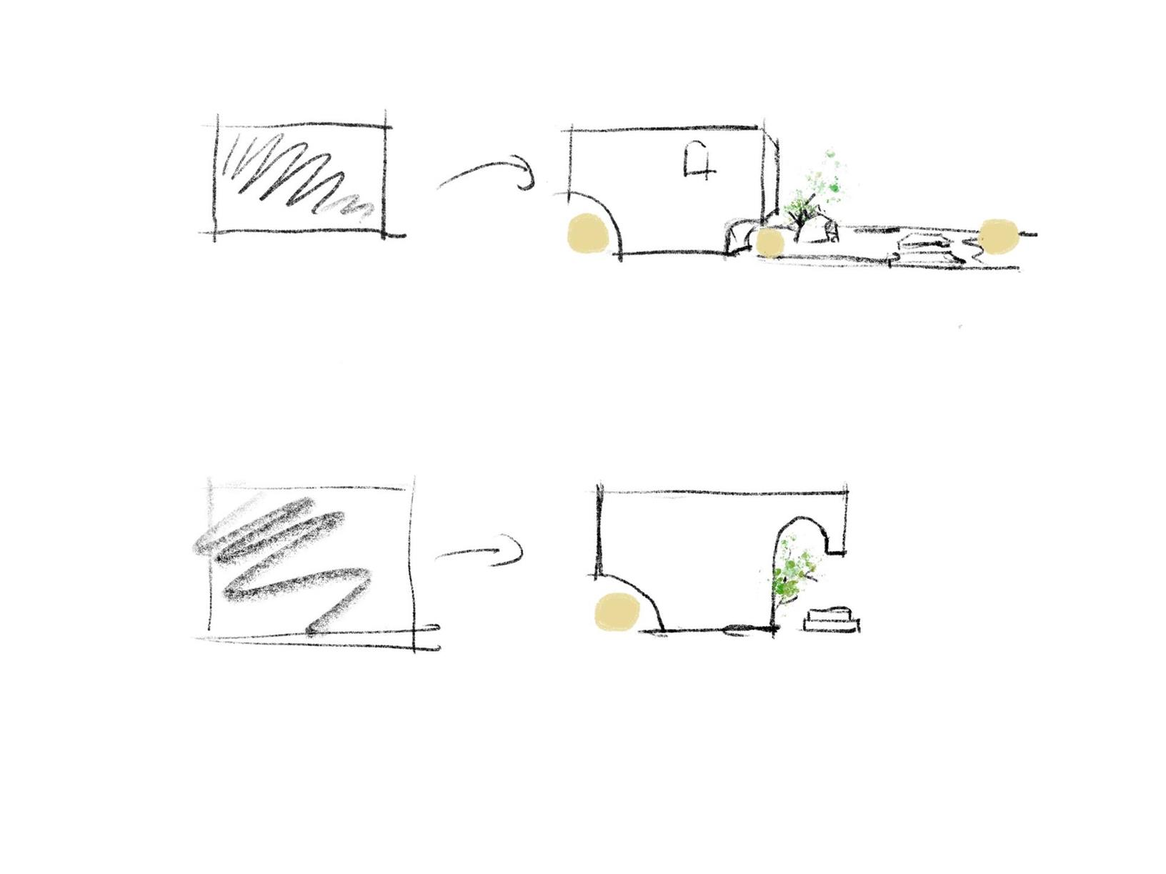 服装店设计概念草图