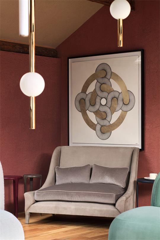 展厅墙面艺术挂画和家具展厅场景设计