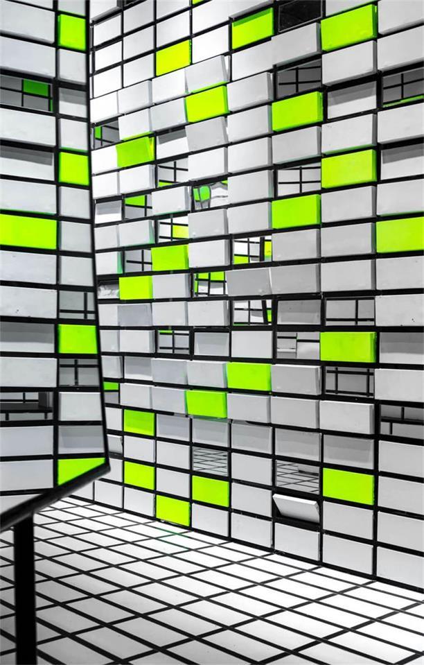 眼镜店墙面造型设计细节