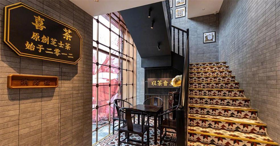 奶茶店楼梯设计