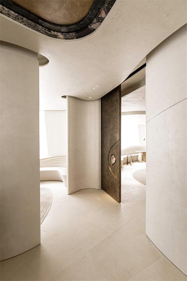 休息室座位造型和天花的结合