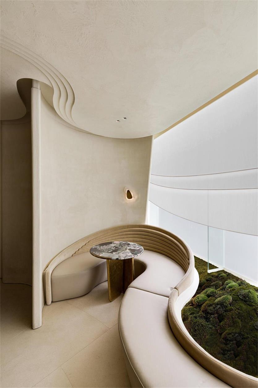 休息室卡座与景观的结合设计