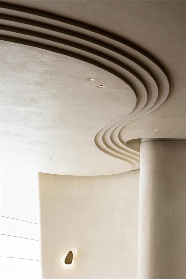 休息室天花设计的层次感