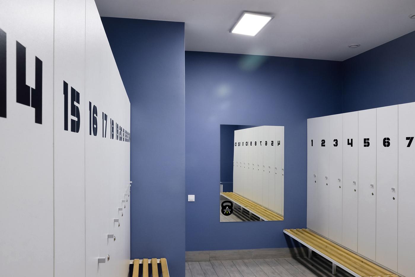 健身房更衣间设计