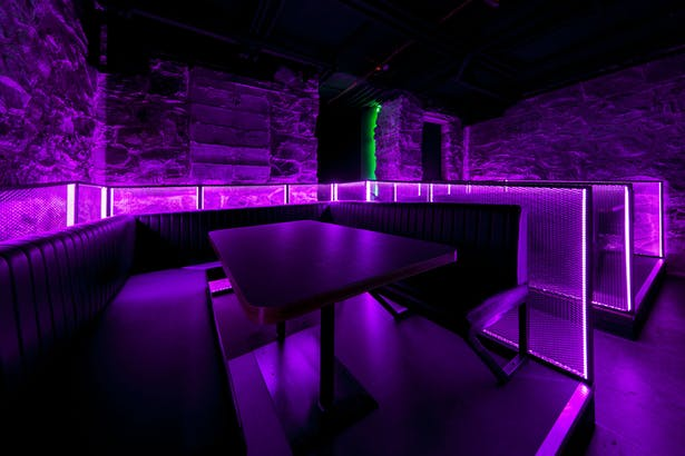 酒吧卡座区域灯光氛围设计