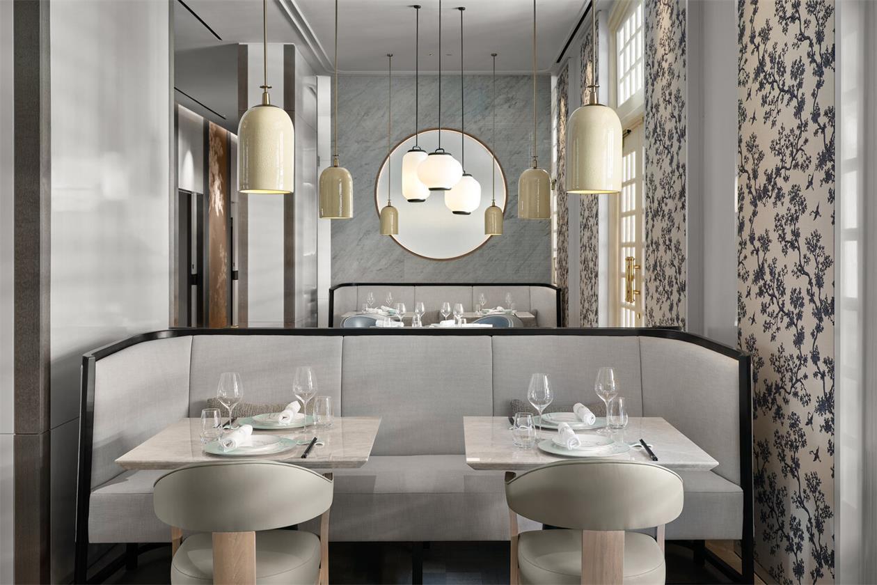 中餐厅四人座位设计