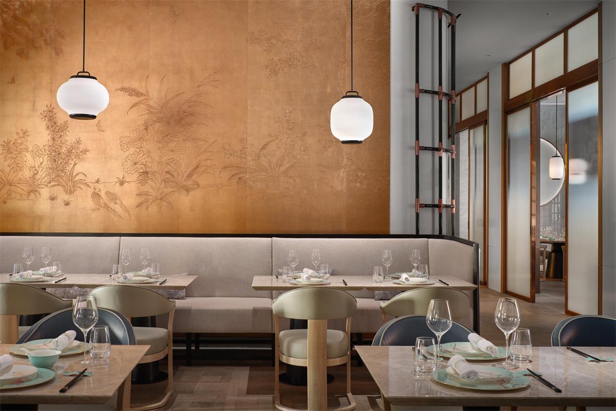 中餐厅卡座区域设计