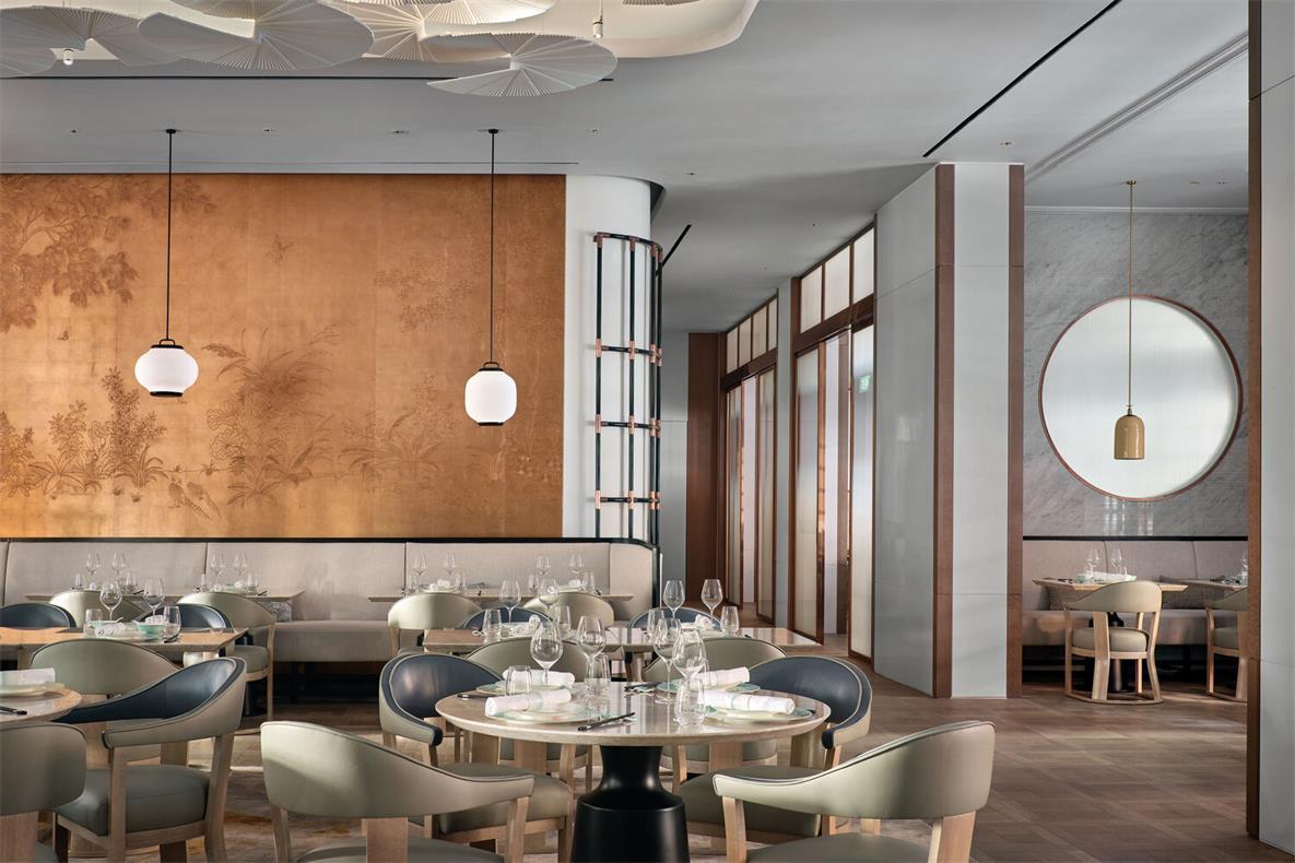 中餐厅四人圆桌用餐区设计