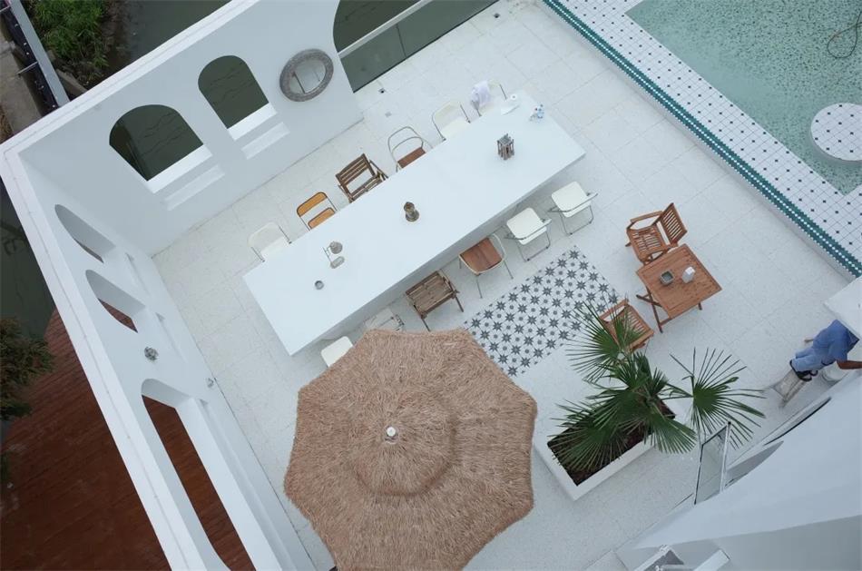 民宿户外庭院设计俯瞰图