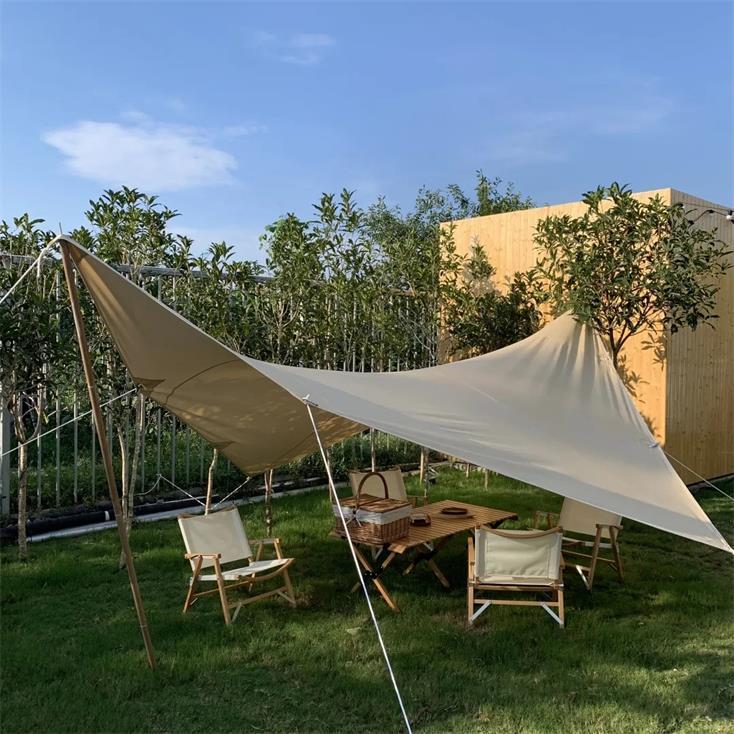 民宿户外休闲区遮阳棚设计