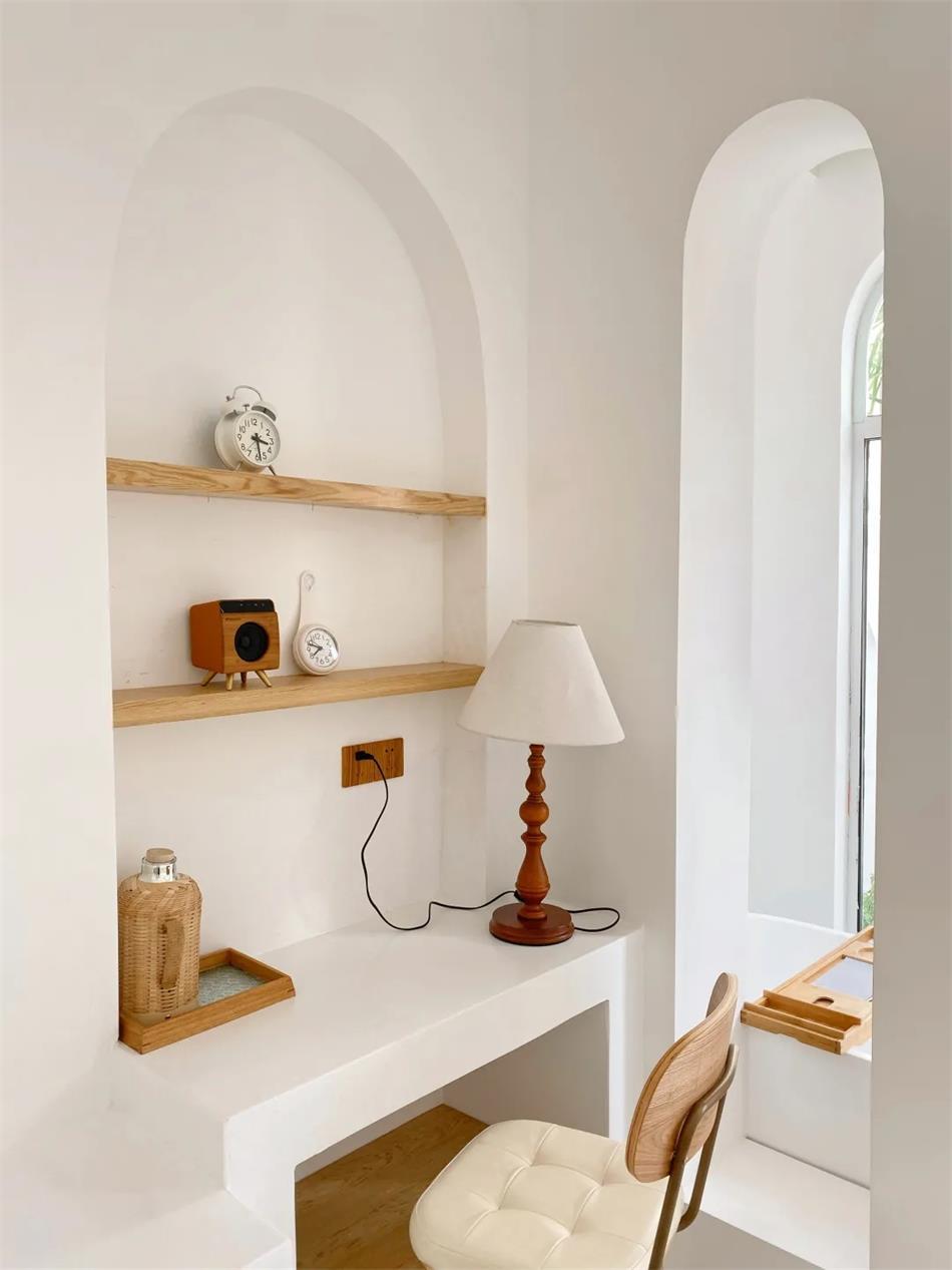民宿内部书桌造型设计