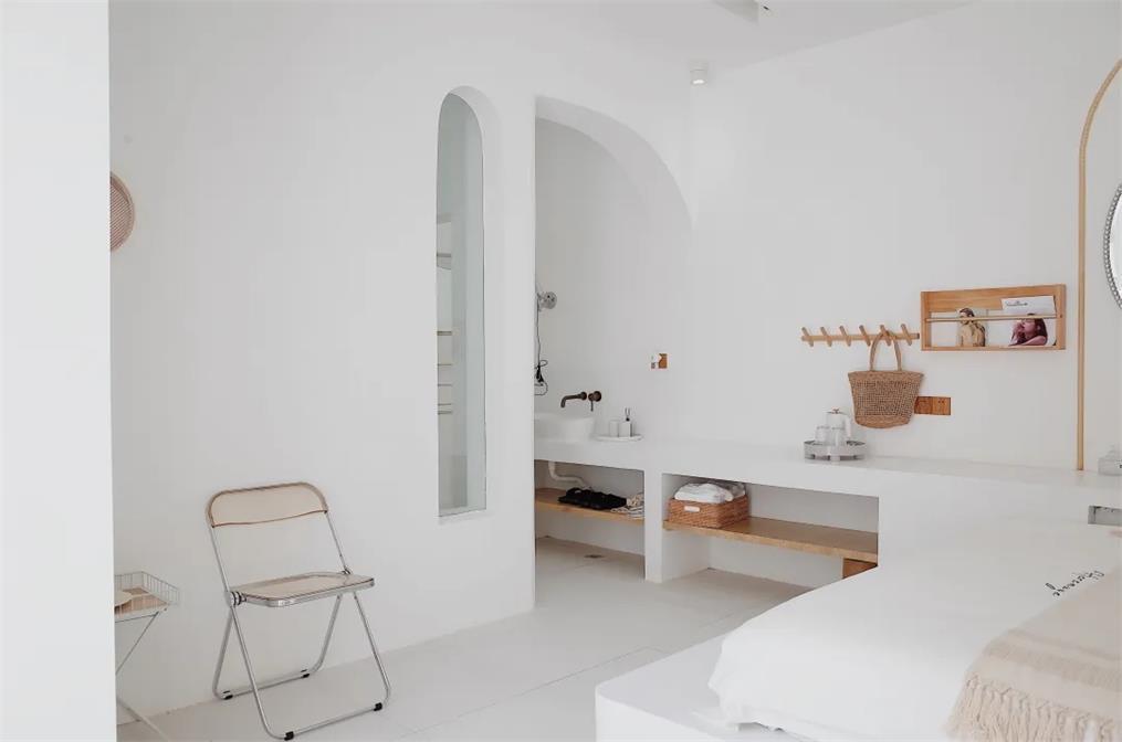 民宿内部卧室全景设计