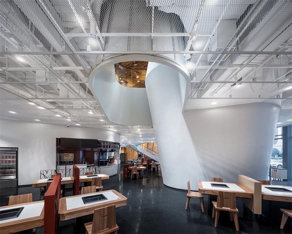 火锅店二层包厢结构设计