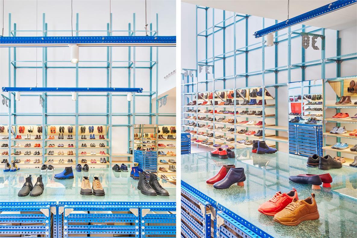 鞋店展示区域设计细节