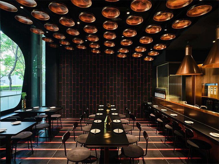 餐厅一层居酒屋设计内部场景