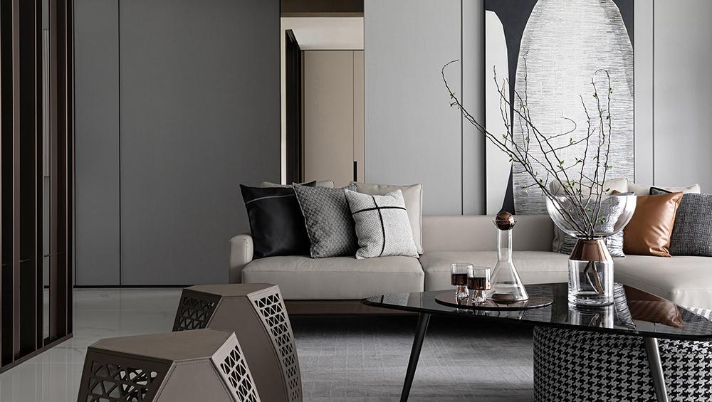 样板房设计客厅沙发一角
