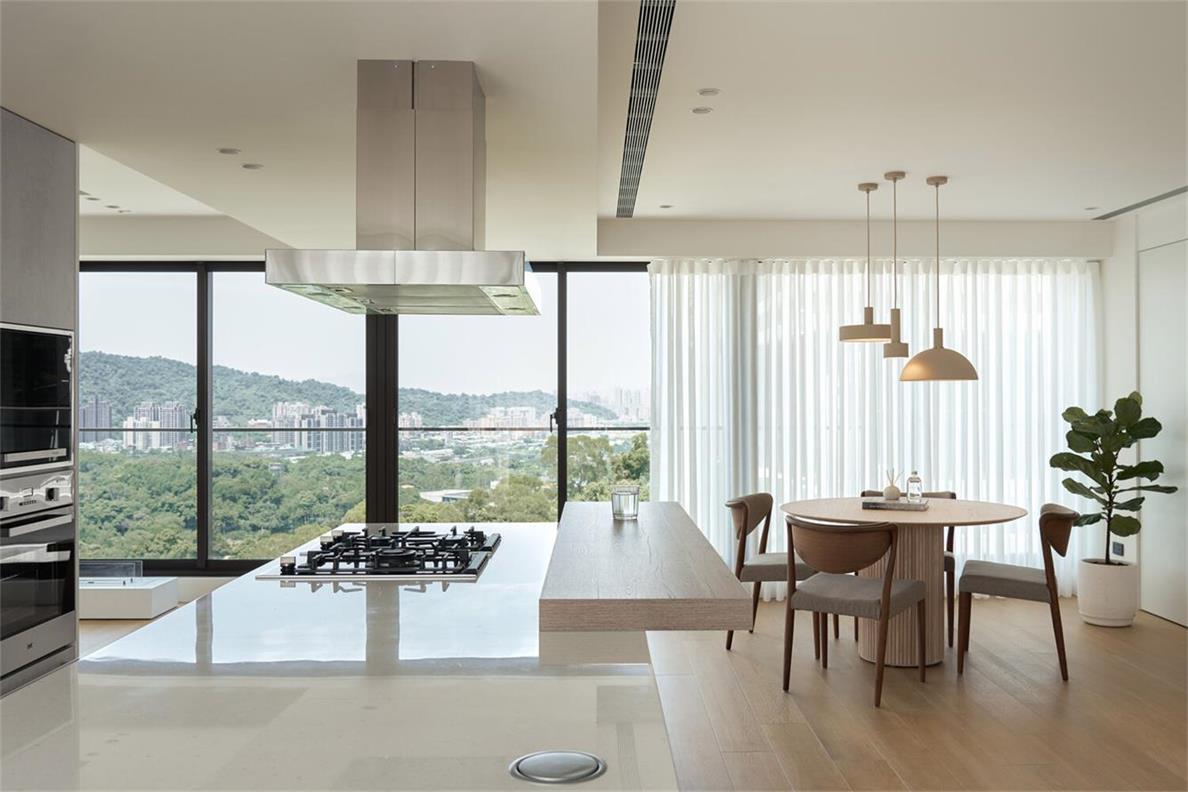 别墅开放式厨房吧台设计