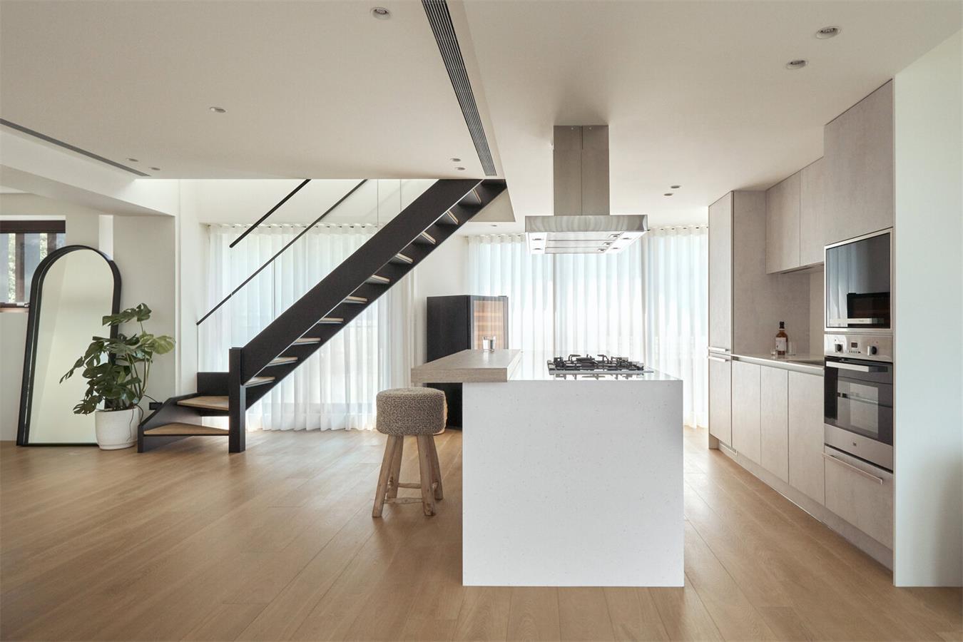 别墅开放式厨房全景