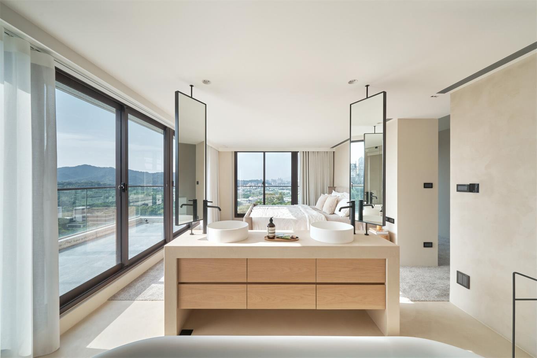 别墅主卧开放式洗手台设计