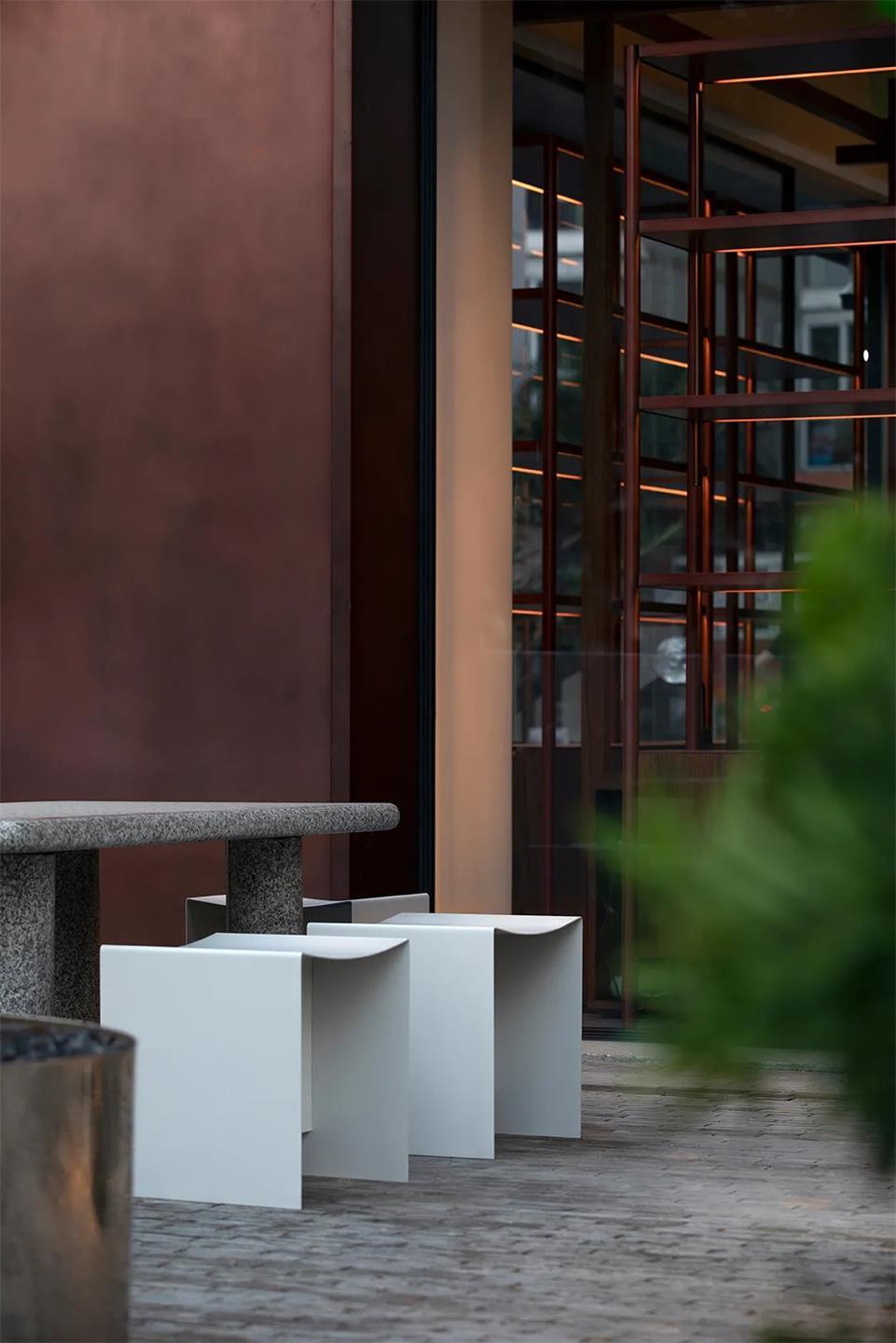茶文化空间户外石桌设计