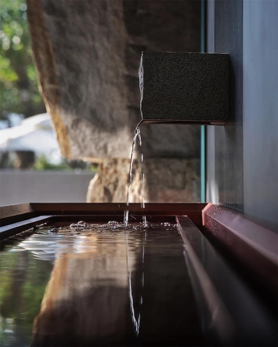 茶文化空间入门水景细节设计