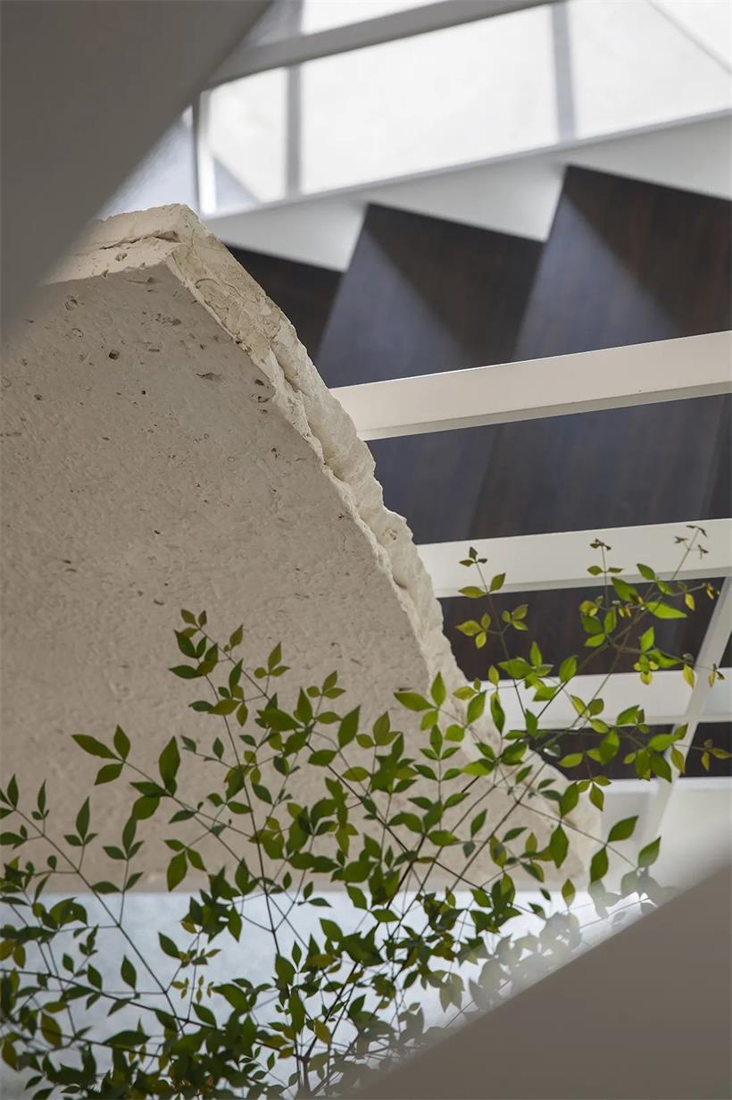 茶文化空间楼梯设计细节