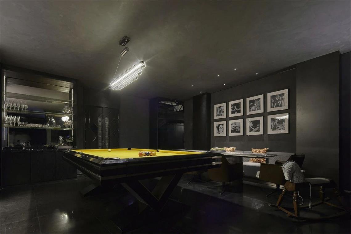 KTV娱乐室台球区域设计