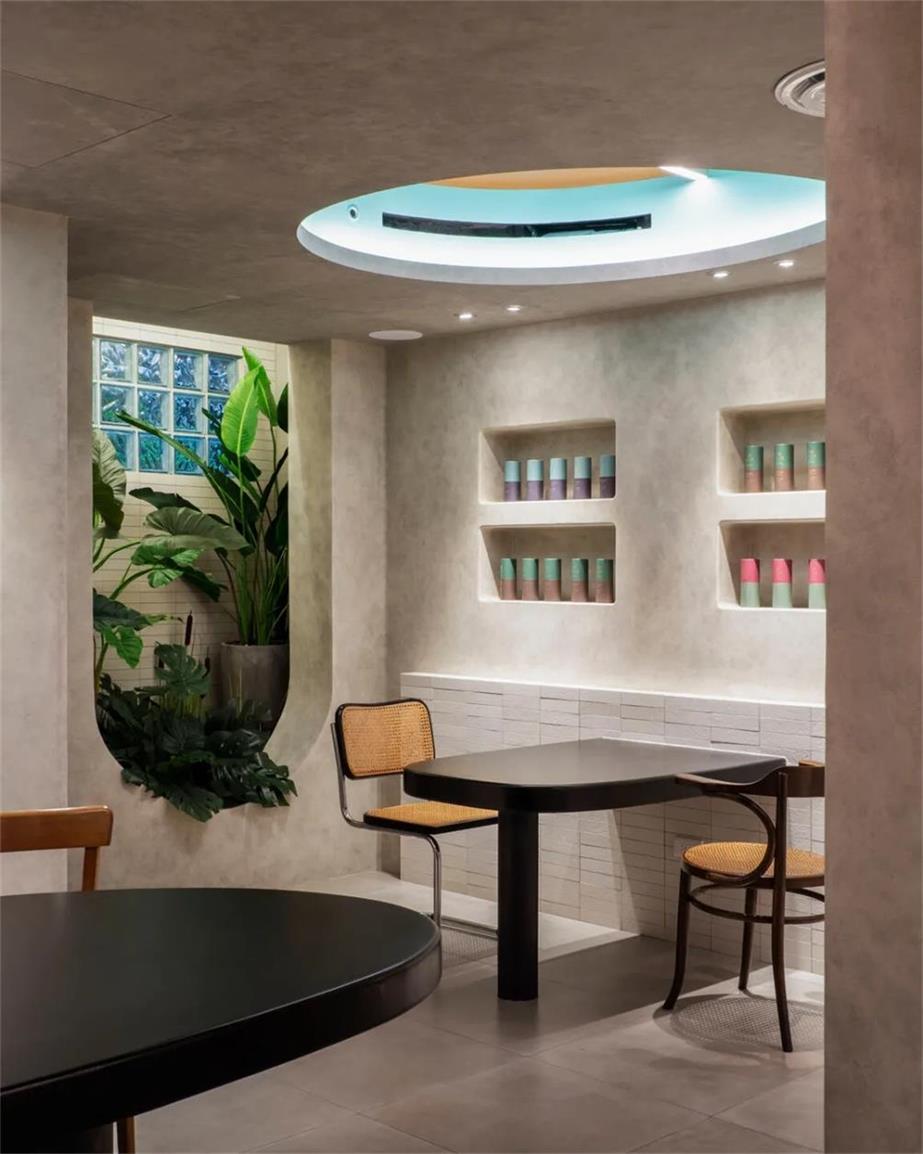 茶文化空间壁龛墙面背景设计