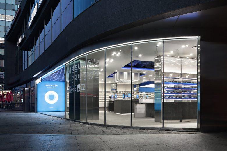 眼镜店外立面玻璃墙设计
