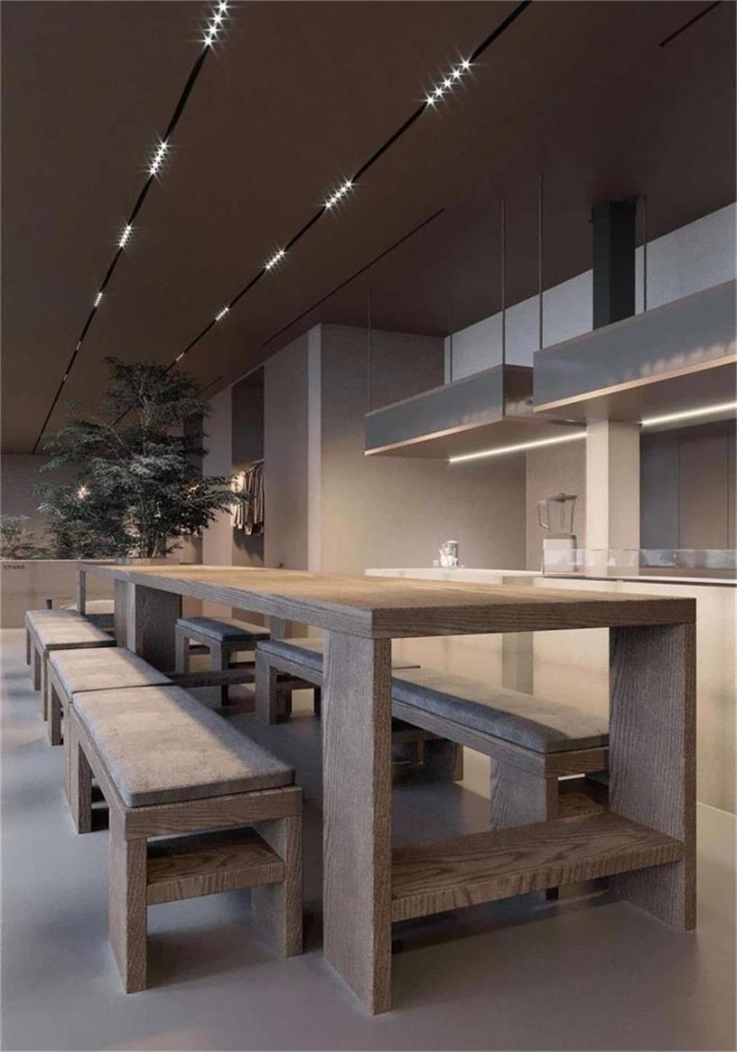 侘寂风空间一层咖啡厅设计