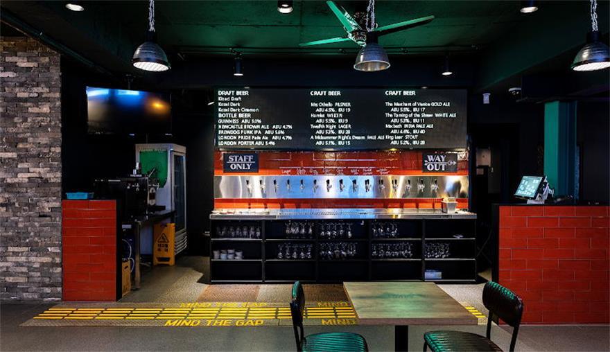 啤酒吧前台区域设计