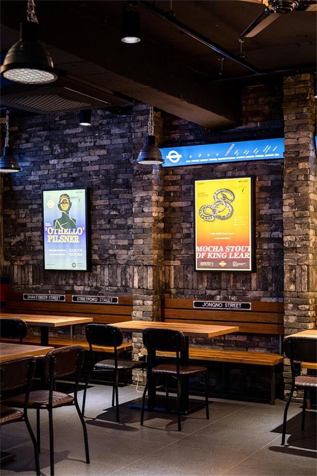 啤酒吧墙面广告灯箱设计