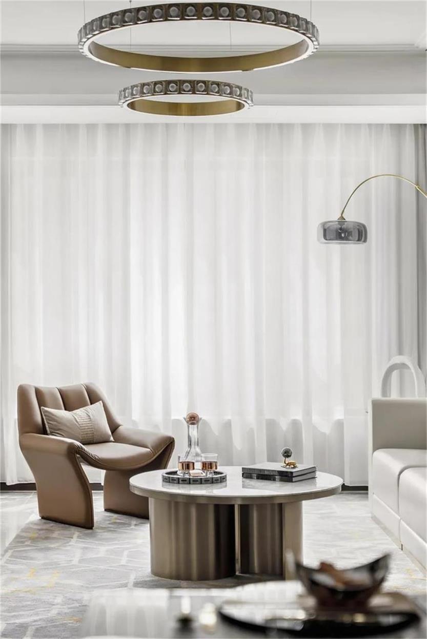 样板房客厅家具及吊灯设计