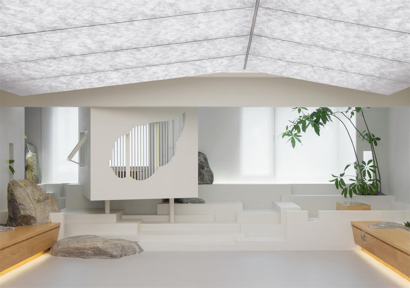 屋顶花园凉亭_从繁华中寻一片山林的茶室设计 | 戈者设计