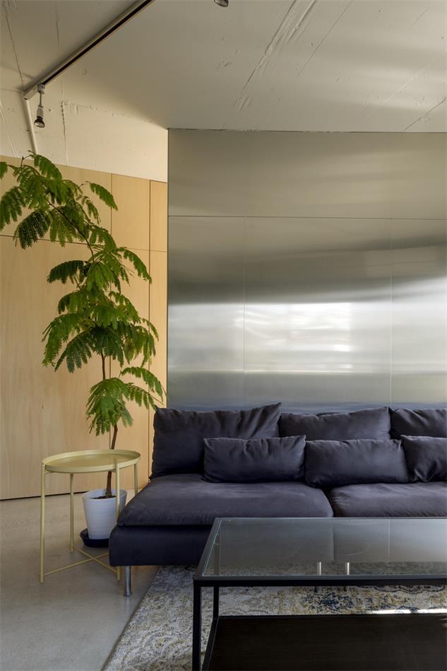 家装沙发背景不锈钢设计特写