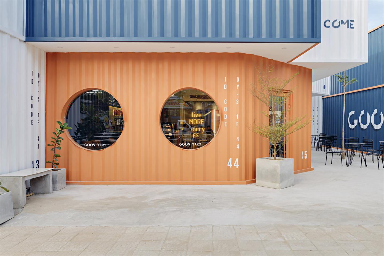 咖啡馆入门门头设计