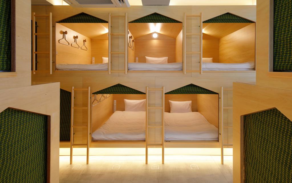胶囊旅馆多层的胶囊房设计