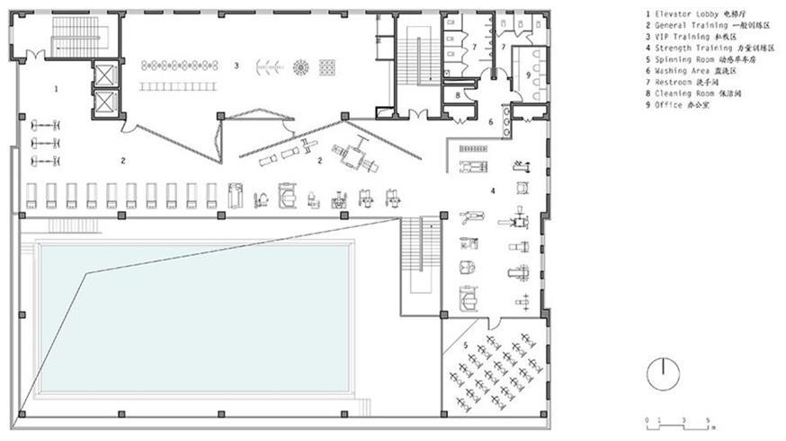 健身中心三层平面方案设计