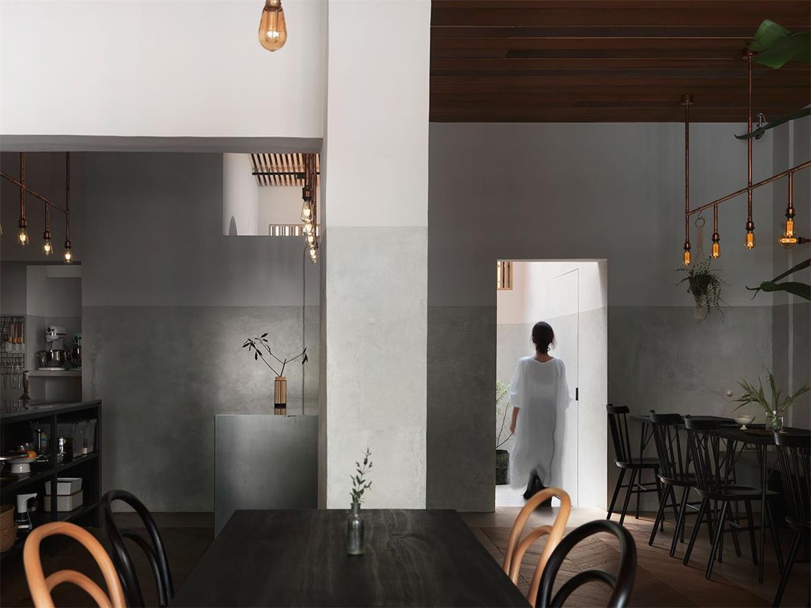 烘焙店中央长桌设计