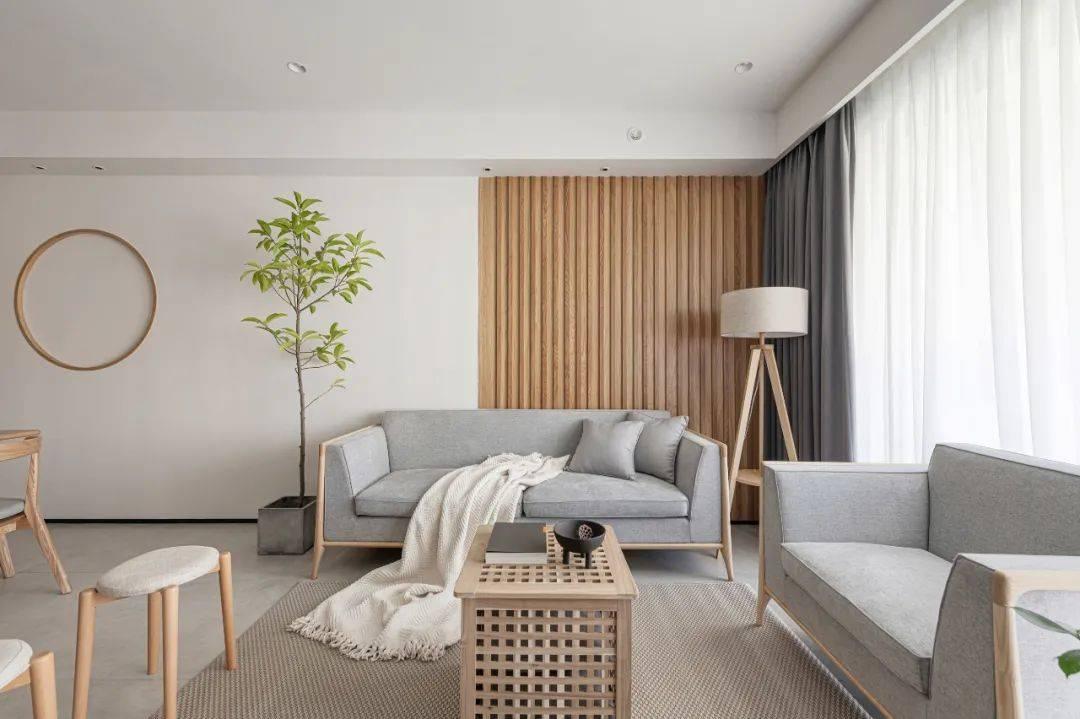 MUJI风家装客厅沙发背景墙设计